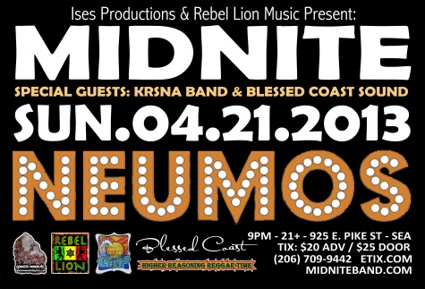 Midnite, Neumo's, Seattle, Roots, Reggae