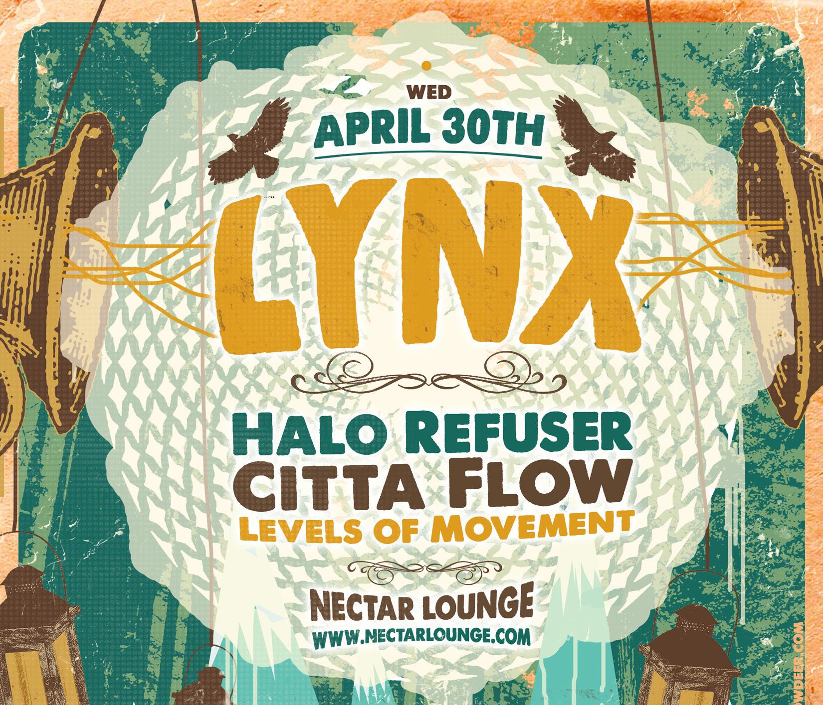 Lynx, Halo Refuser, Citta Flow, Levels of Movement – Nectar
